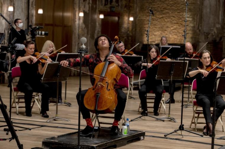 The Philharmonia Sessions John Wilson and Sheku Kanneh-Mason (Photo: Camilla Greenwell)