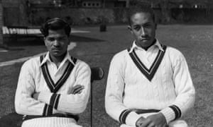 Sonny Ramadhin (left) and Alf Valentine tormented England in the summer of 1950.