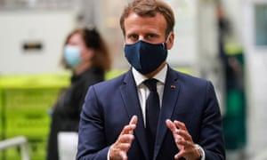 The French President Emmanuel Macron