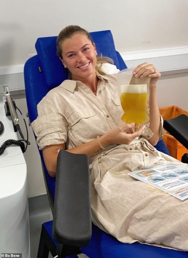 Miss Bene revealed she had coronavirus symptoms a week after lockdown