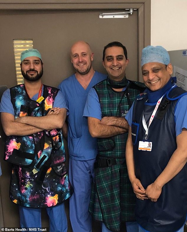 The new procedure is being carried out byinterventional radiologists at The Royal London Hospital in East London
