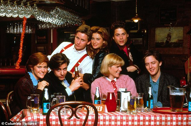 Big break:Schumacher directed Moore in her first big feature the 'Brat Pack' film St. Elmo's Fire, in which she starred with Rob Lowe, Andrew McCarthy and Emilio Estevez