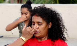 Indian yoga enthusiasts practices nadi suddi pranayama breatthing techniques.