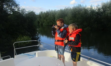 The boys, aged six and eight, have become keen birders in lockdown