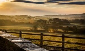 'Views of rolling farmland': Westwood Farm, Dorset.