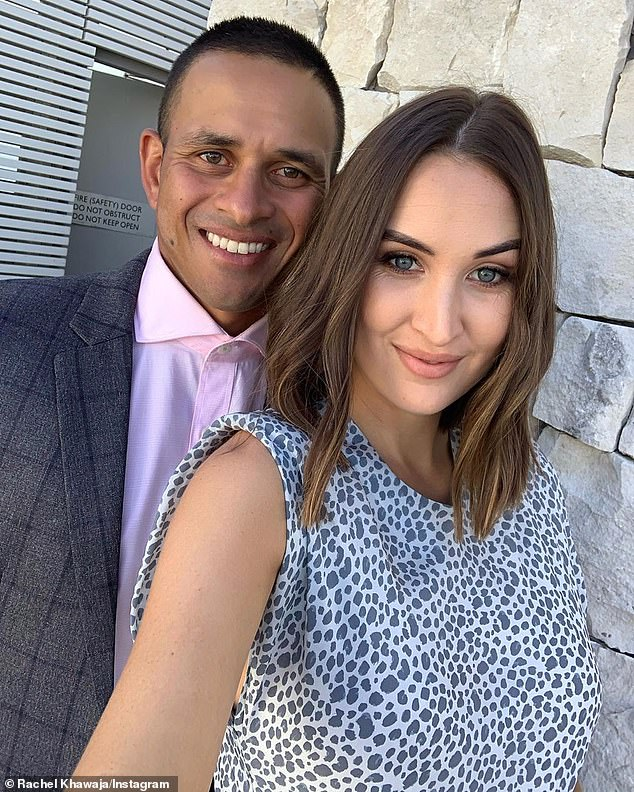 So sweet: 'I can't wait to watch Uzzy become a dad, he is very loving and caring and I know he will be an incredible dad,' Rachel said about her sports star husband