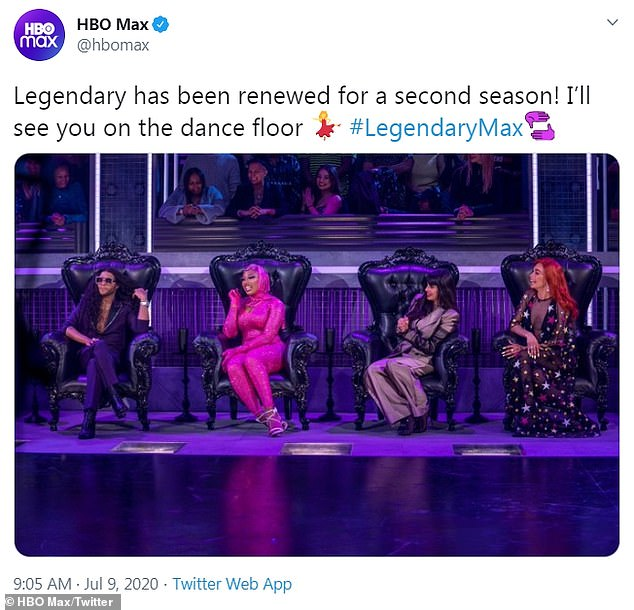 Streaming Thursdays!Megan's posts came as HBO Max renewed her LGBT ballroom competition Legendary, on which she serves judging duties, for a second season