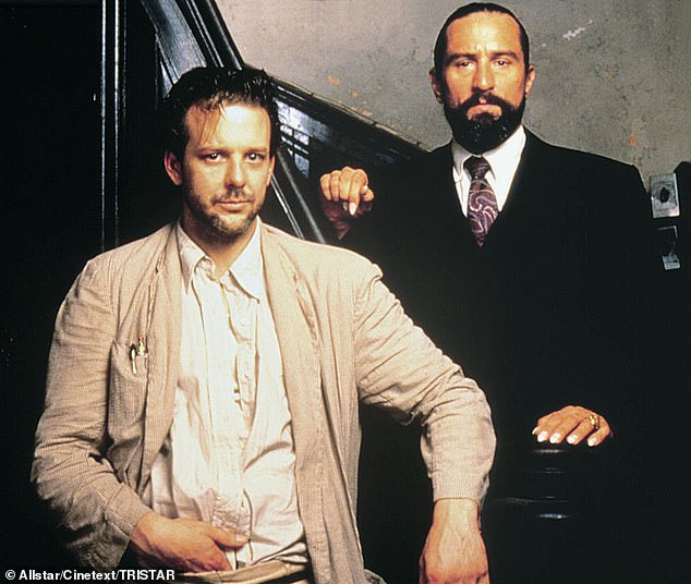 Longstanding feud: Rourke has claimed DeNiro snubbed him when he introduced himself on the set of the the 1987 film Angel Heart