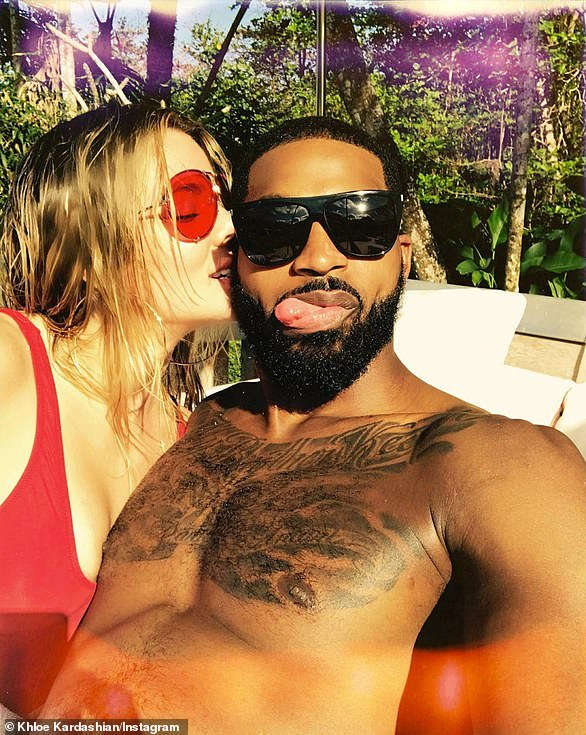 Still together: To the surprise of many, Khloe and Tristan appeared to be more back on than ever during a couple's retreat with sister Kendall and her on-and-off beau, Ben Simmons