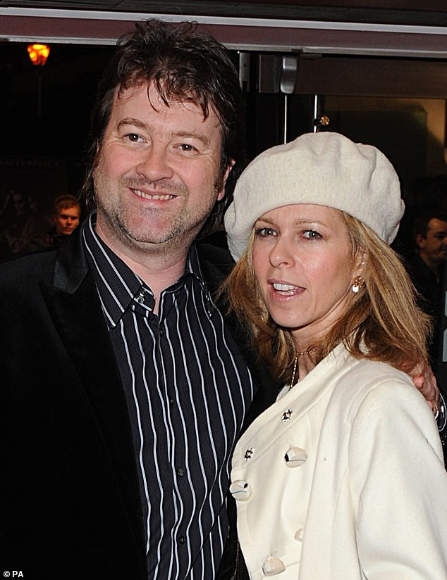 Worrying time: Piers said that Kate has stepped back from all platforms in recent weeks, as her husband Derek, 52, remains critically ill after coronavirus caused 'extraordinary damage' (pictured together in 2008)