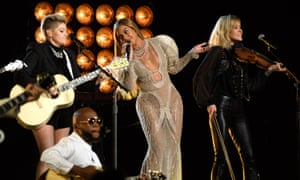 With Beyoncé at the 2016 Country Music Awards.