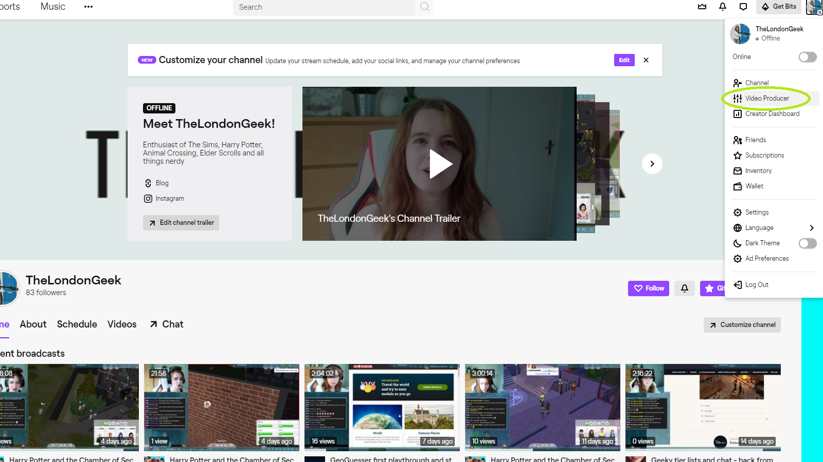 Download Twitch videos