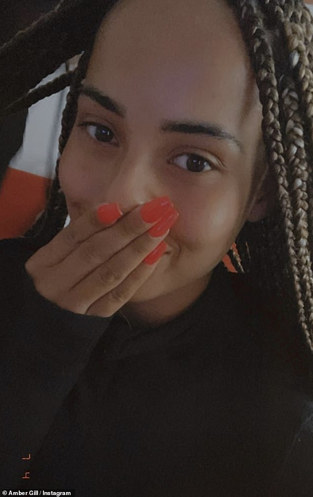 Red hot:The reality star also opted for a stand-out set of pillar box red nails, after going for months without having had any extensions