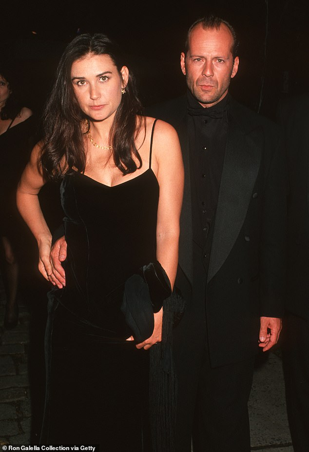 Famous beau:She made a glamorous Hollywood couple with Bruce Willis, whom she married in 1997, though they were divorced in 2000