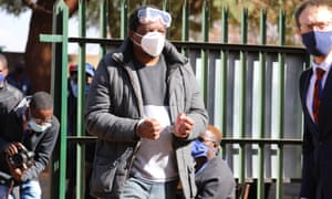 Zimbabwean journalist Hopewell Chin'ono appears at the Harare Magistrates Courts.