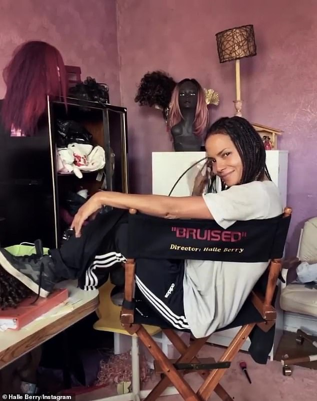 Bruised:According to Berry, the project was pitched to her, while she was 'on the brink of making [the film] Bruised,' which is the actress' directorial debut; Halle pictured on Instagram