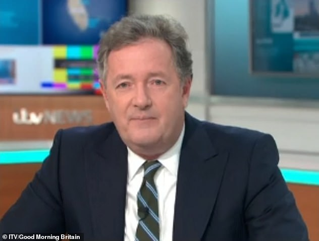 Candid: Piers Morgan has revealed that Kate is 'living in hope' for her husband's recovery after a 13-week coronavirus battle