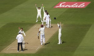 England's Dom Bess, (second left) and teammates appeal unsuccessfully for the wicket of West Indies' Shane Dowrich.