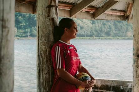 Jaiyah at Faga'alu park Jaiyah Saelua is the world's first transgender international footballer.