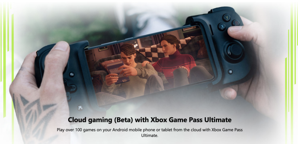 Microsoft's Xbox Game Pass Ultimate includes access to the company's xCloud cloud gaming platform. (Image: Microsoft)