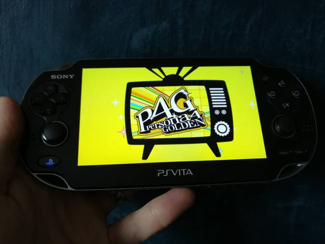 The author's own original-model Vita, running its best game