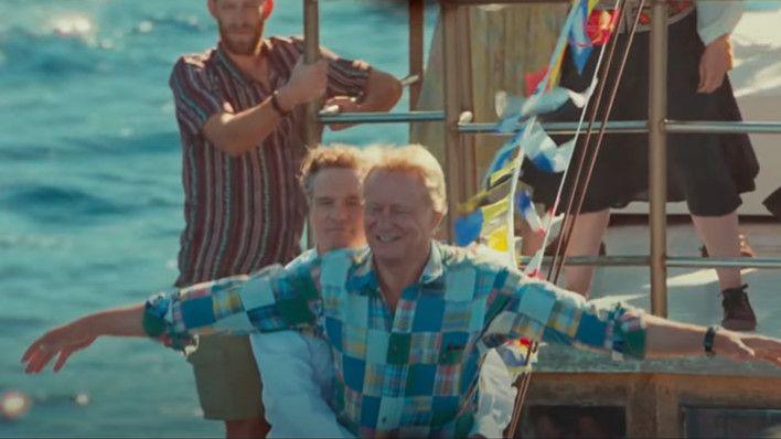Colin Firth and Stellan Skarsgård in 'Mamma Mia! Here We Go Again'. (Credit: Universal)