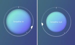 A breathing visualisation from the meditation app Calm
