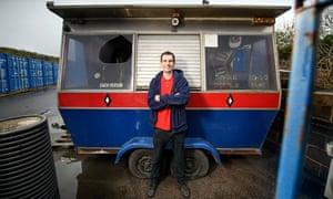 Chef Sam Pinnock beside his old dodgem kiosk