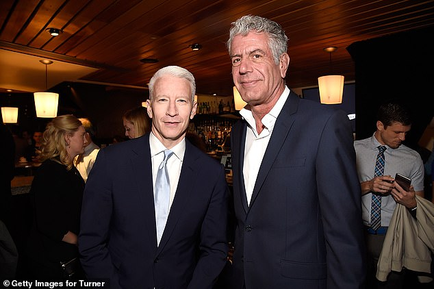 Old friends: Anderson Cooper, 53, remember his late friend Anthony Bourdain on a Thursday segment of his show, which featured a clip of the two from 2015; seen together in 2016