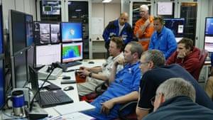 Researchers and crew on RV Investigator