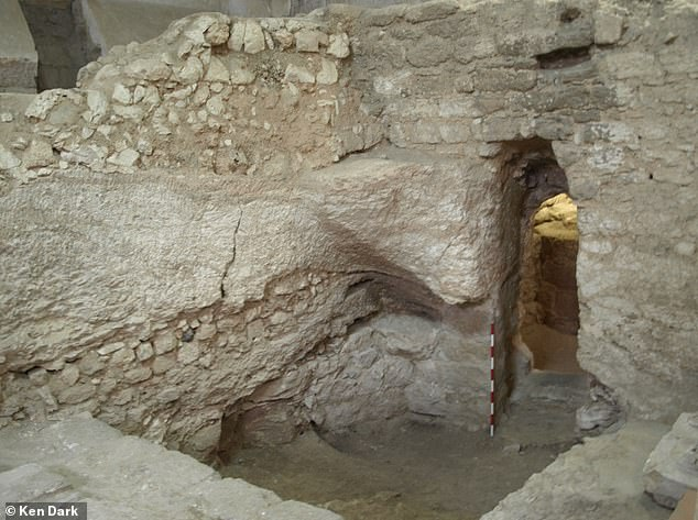 Pictured, the stone and mortar dwelling, which was first uncovered in the 1880s,under the Sisters of Nazareth Convent in Nazareth, Israel