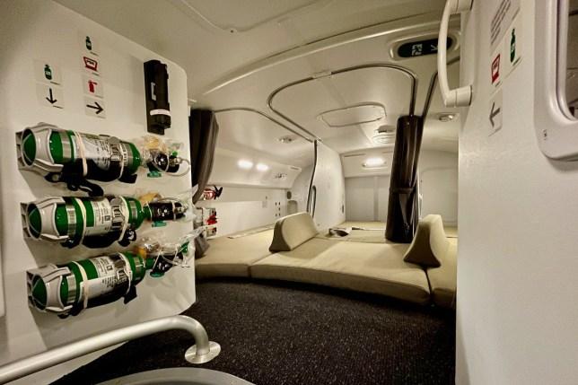 Plane photos reveal secret space for stewards to sleep pics: Zach Griff