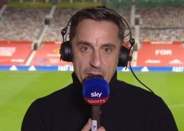 Gary Neville criticised Manchester United's tactical approach in their defeat to Arsenal
