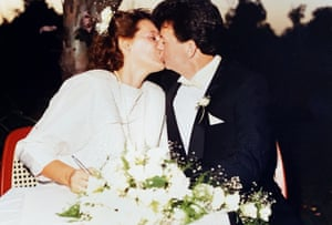 Suzanne Harris and Tom McAtee on their wedding day 'We wouldn't have waited, there was no point' Tom syas.