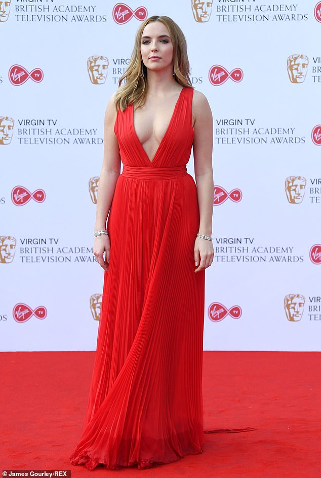She found love in a hopeful place: Jodie Comer has revealed that her romance with dashing American James Burke marks the first time ever that she's been in love. Pictured in 2017
