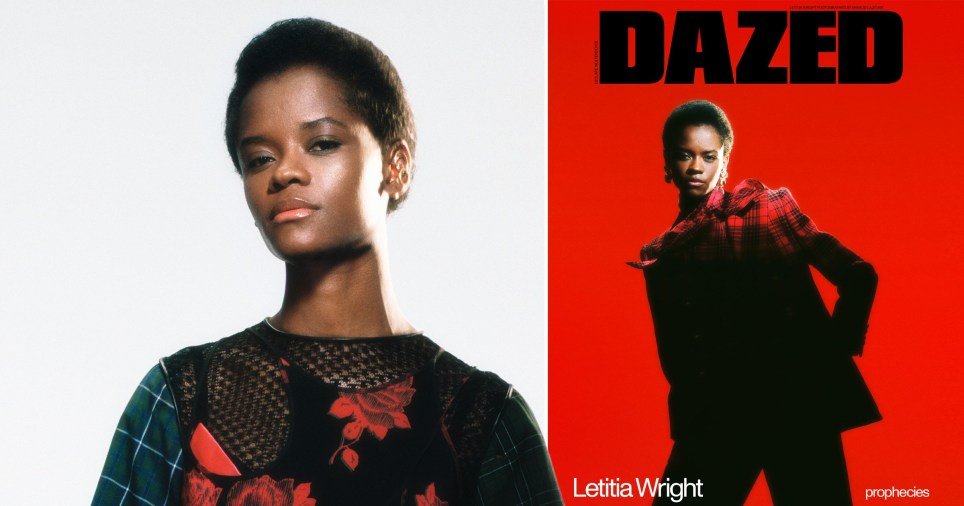 Letitia Wright on cover of Dazed Winter 2020 issue