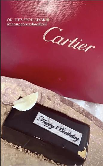 Chris Taylor presents for Maura Higgins
