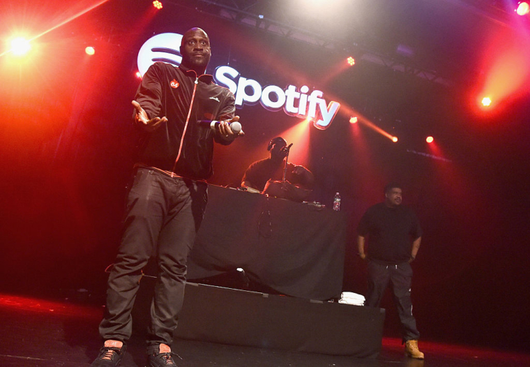 Kelvin Mercer and David Jude Jolicoeur of De La Soul perform at  a SpotifyAdvertising Week New York gig  (Photo: Michael Loccisano/Getty)