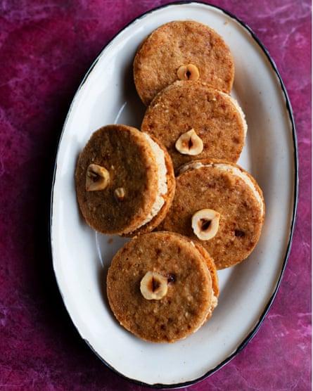 Nuts about them: hazelnut buttercream cookies.