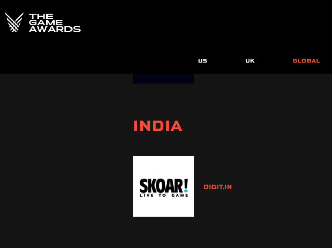 SKOAR! is the only jury member for the Game Awards 2020 from India.
