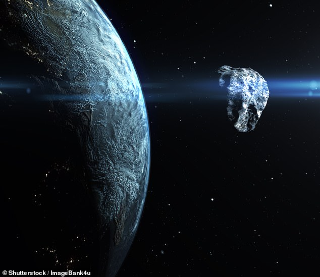 An asteroid the size of a London bus missed the Earth by just 240 miles (386 km) on Friday 13th — but was not detected until the next day, astronomers have revealed (stock image)