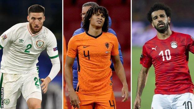 Matt Doherty, Nathan Ake and Mohamed Salah