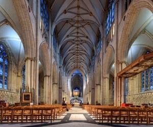 Interior of York Minster.