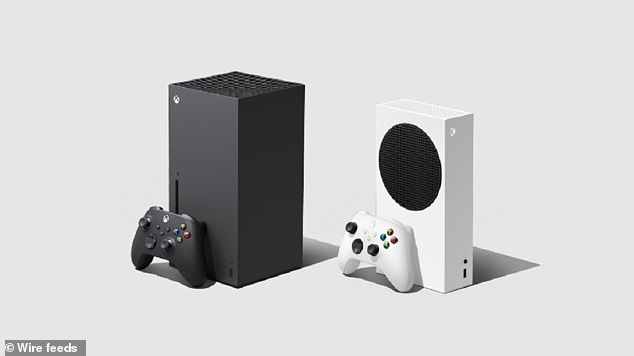 Cuboid in shape, the X (left) is Microsoft's most powerful ever console ever made while the cut-price Series S (right) is a digital-only console which is the smallest ever Xbox