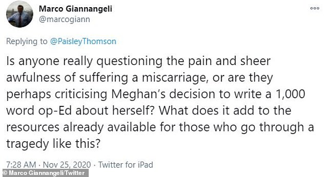The catalyst: 'Award for today's absolute piece of s**t goes to Marco Giannangeli. Congratulations, piece of s**t,' wrote Teigen, 34, in reply to Giannangeli's callous tweet, which she later deleted