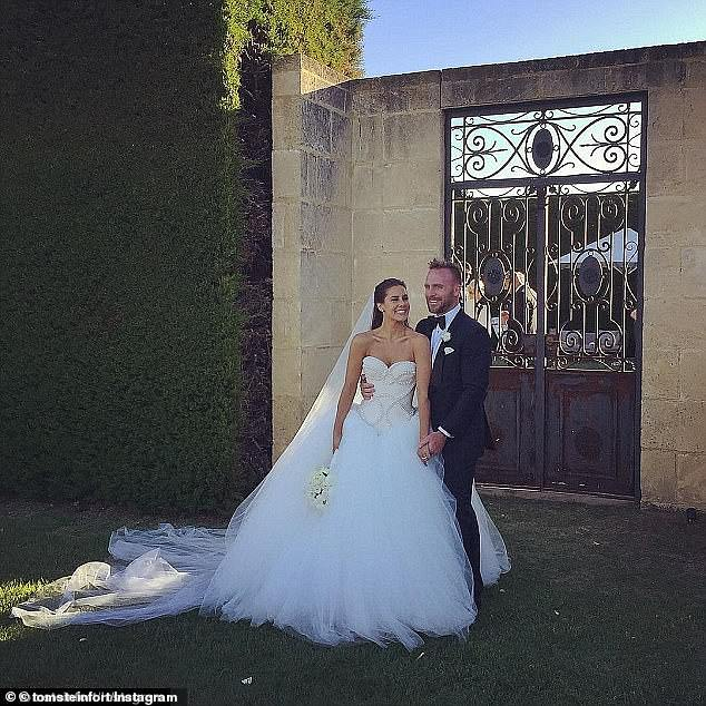 Hashtagged: The couple encouraged guests to mark the momentous occasion by sharing photos and clips from the day on social media using the hashtag: 'meetthepharks'