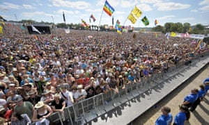 Crowds at the Glastonbury Festival, one of many cancelled this year.