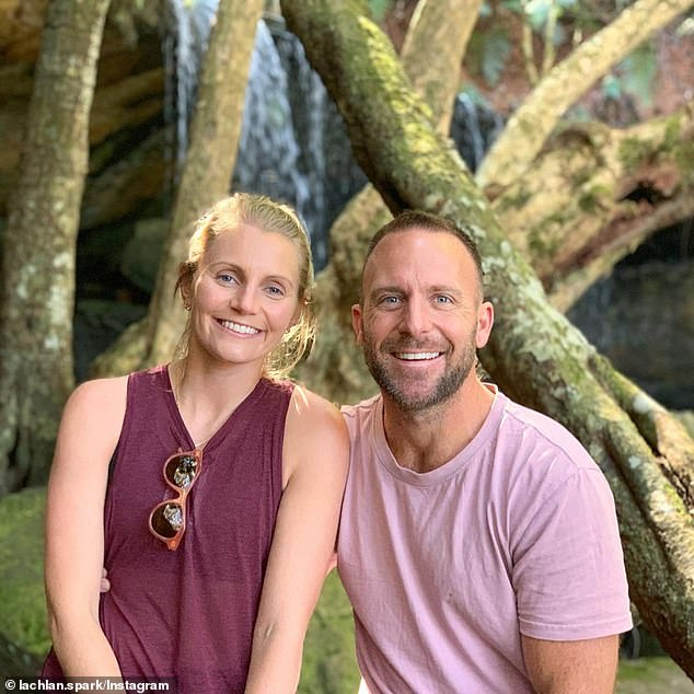 Happy: Lachlan recently spent time with Courtney in the Kangaroo Valley and Byron Bay