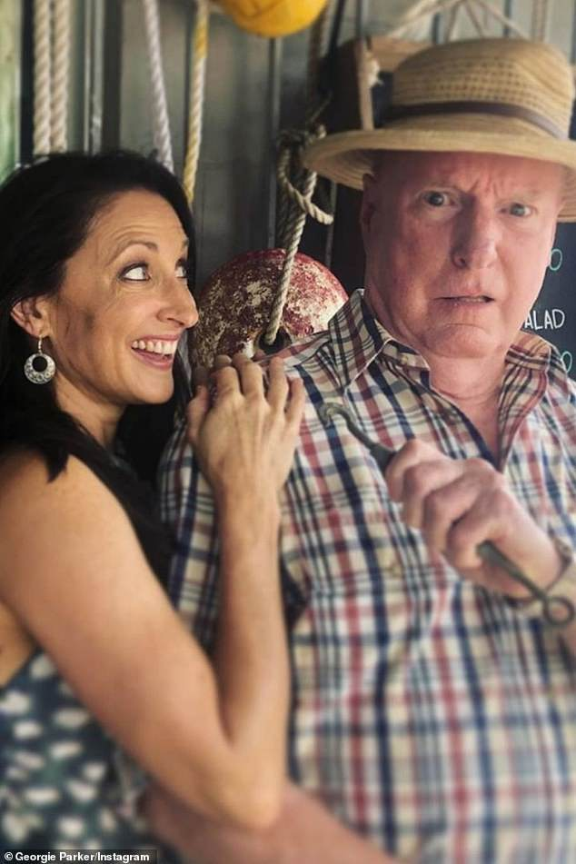 Rallying around: Johnny's co-stars including Georgie Parker (L) offered their love and support: 'Oh, Johnny!!! Sending nothing but love. Best of luck!!' (R)Ray Meagher