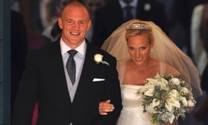Zara Phillips and Mike Tindall on their wedding day in 2011